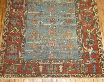 Antique Persian Heriz Rug Size 4'6''x5'9''