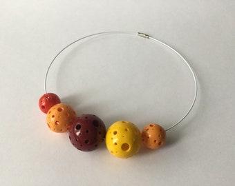 Minimalistic Polymer Clay Chocker. Chocker. Necklace. Handmade.