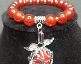 Red Agate Diffuser bracelet