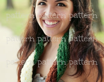 PATTERN Not Your Granny's Braided Cowl Scarf Crochet PATTERN