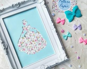 5x7 Framed 'Cinderella' Papercut   Handmade   Disney Princess   Home Decor   Gift Ideas