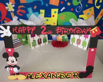 Attractive Mickey Mouse Party Photo Booth Frame