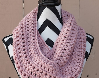 Ready to Ship Dusty Rose Infinity Scarf