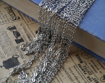 16 feet Antique Silver Dull Silver Open Link Chain 3 x 5mm (SCN3401)