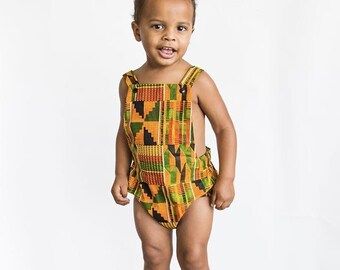 African Kente Boy Romper, Baby Romper, African Baby Clothes, Toddler Romper, Newborn Romper