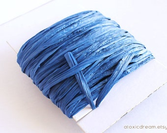 Royal Blue Raffia Ribbon - 30/100 yards  - 1/4 inch wide
