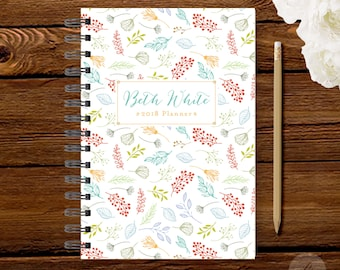 2018 Monthly Planner #25 - Hardcover - Coil Bound - Tabbed - Weekly Planner - Daily Planner