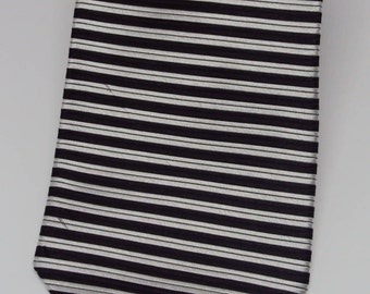 Tommy Hilfiger Black and Silver Designer Tie