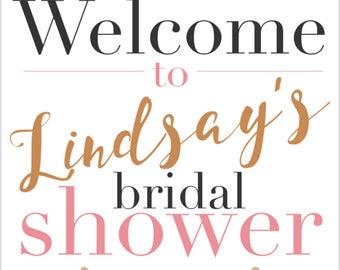 Custom Bridal Shower Sign