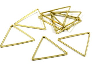 25 Pcs. Raw Brass  24x24 mm  Geometric  Equilateral Triangle  Findings
