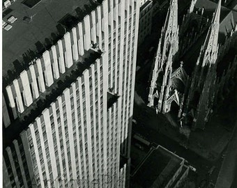 St. Patrick's Cathedral New York aerial photo by Weber