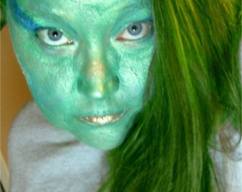 Alien Mermaid Halloween Makeup Kit Green