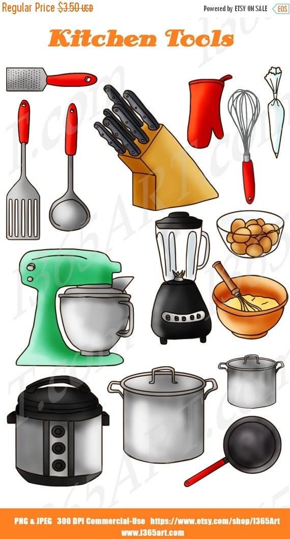50% OFF Kitchen Clipart Kitchen Clip art Baking clipart