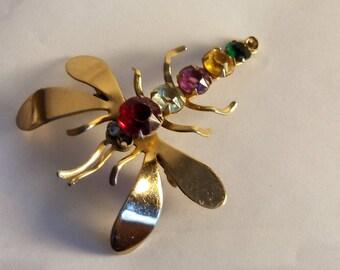 Vintage Cori Dragonfly Brooch