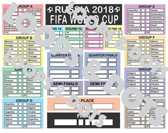 FIFA World Cup 2018 - Schedule - Instant Download - goal tracker - SOCCER - FOOTBALL