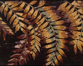 Autumn Leaves Mosaic Tile Patterns