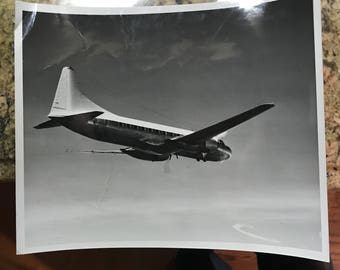 CV-240 Vintage B&W Convair Official Manufacturers Stamped Photo General Dynamics 1950s 8x10
