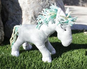 Horse Stuffed animal - Gray