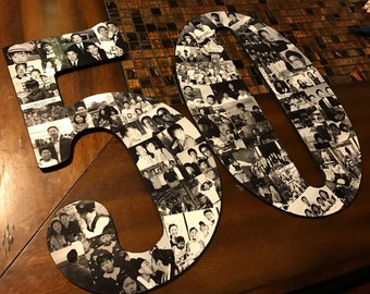Wooden Number Photo Collage(2 Numbers)