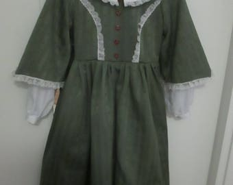 Civil War Girl Dress, Camisole, Pantaloons and Petticoat (Size 12) #NB-9