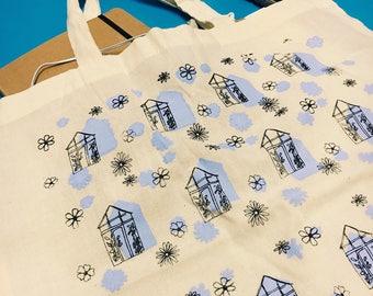 Green House Pattern Tote Bag | Bag for life | Shopping  Bag | Handmade Gift| Patterned Bag