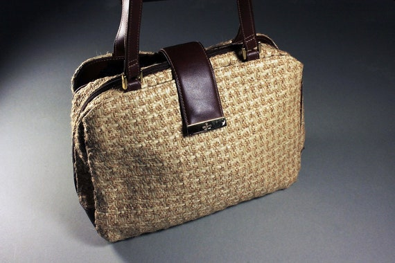 Jute Handbag, Rosetti, Purse, Handbag, Shoulder Bag, Faux Leather, Woman's Gift