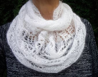 Infinity Lace Scarf Knitted