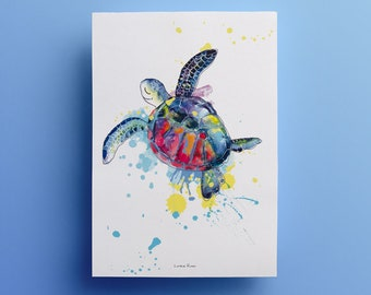 Poster -  Sea Turtle - illustration