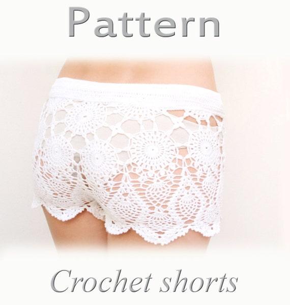 Pattern Crochet Beach Shorts In Cotton Pdf Crochet Shorts