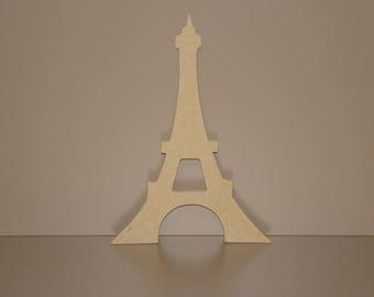 Eiffel Tower wood MDF holder for decoration 16,5cm x 11.5 cm
