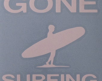 Gone Surfing Decal