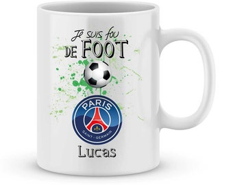 Personalized mug PSG football league1 with your name
