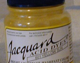 Yellow Sun 601 Jacquard Acid Dye for Wool, Silk, Feathers, Nylon, any protein (animal) fiber. Add vinegar & , heat to powder.