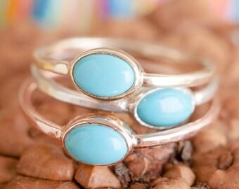 14k Turquoise Ring| 14k Yellow Gold, 14k Rose Gold, or 14k White Gold | Nature Inspired Ring