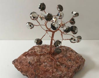 Glistening Bead on Copper Gem Tree