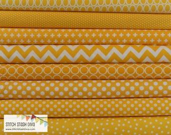 Yellow Bundle (8 Fabrics Total)