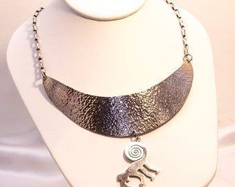 Solid Silver Monkey Necklace