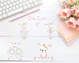 Planner Die Cuts / Baby Bunny Die Cuts / Die Cuts / Planner Accessories / Bunny Die Cut / TN Die Cuts / Traveler's Notebook Accessories