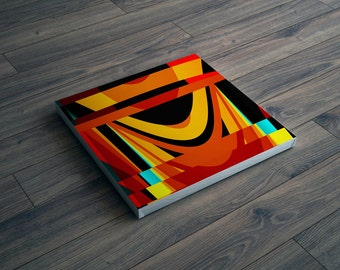 Cheerful modern art canvas print with vivid colors on square canvas - Abstract art / Contemporary art / wall decor / wall art / wall hanging