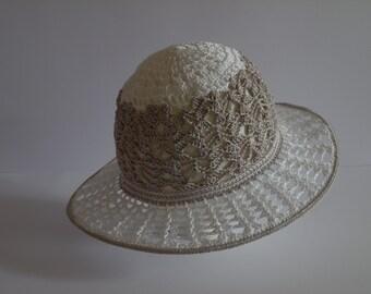 Women's Hat , Crochet Summer Hat ,  Women's Sun Hat , Crochet Sun Hat for Women , Crochet Hat with Brim, Floppy Beach Hat