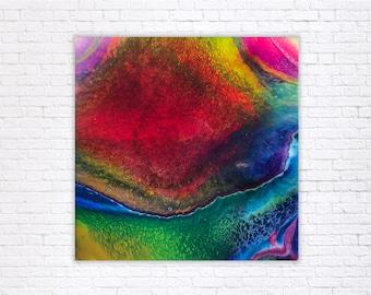 Ara - Mixed Media and Resin Painting