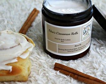 Elva's Cinnamon Rolls Hand & Body Lotion, 8oz, Cruelty Free Product