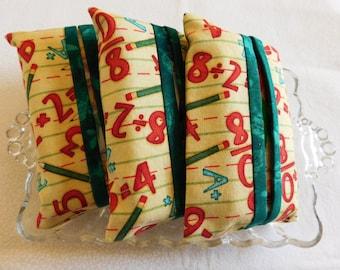 Set of 3 Tissue Holders,Tissue Holders School Themedw/tissues,Teacher Gift; Teacher love