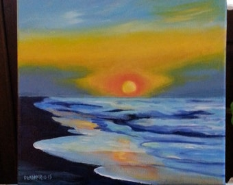 Emerald Isle Dawn II 12x12 Acrylic Wrapped Canvas