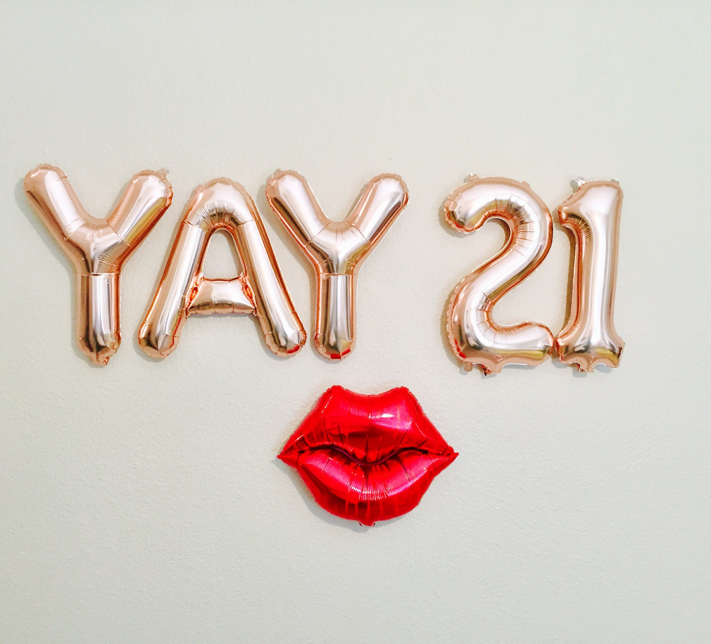 YAY 21 Balloons Number 21 Balloons 21st Birthday Photo Prop on