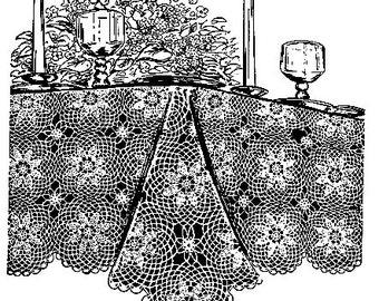 Star Medallion Tablecloth Crochet Pattern 723042