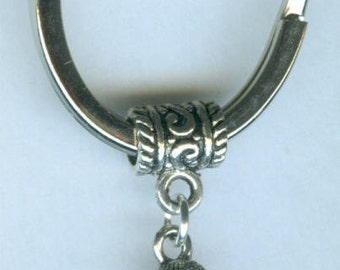 Silver WILLENDORF GODDESS Keychain, Key Chain, Keyring, Key Ring