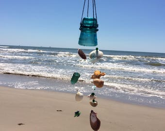 Wind Chime made with Vintage Telephone Insulator