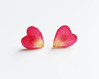 earring studs,rose petal earrings,lover earrings,girlfriend/wife earrings