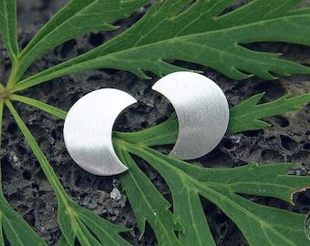 Earrings Silver 925 /-, small moon